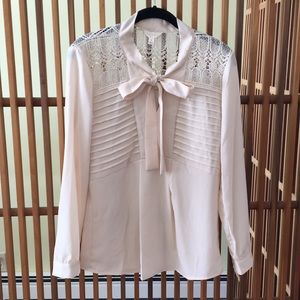 Dressy blouse with lace detail